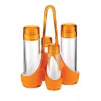 Convoy aceite/vinagre bicolor naranja y blanco Guzzini