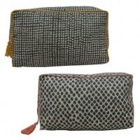Neceser textil con cremallera Caliope 2 estampados 15x26cm