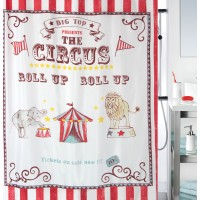 Cortina baño textil The Circus multicolor 180x200 cm