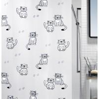 Cortina baño Peva Gary gris 180x200 cm