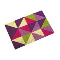 Felpudo coco base goma triángulos colores 40x60 cm