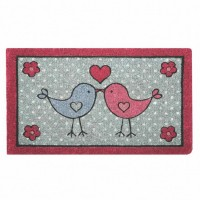 Felpudo grueso de coco Little Birdie Kiss 75x45 cm