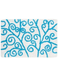 Alfombra baño lineas Azul 40x60 cm