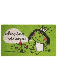 "Felpudo verde ""Alucina vecina"" 70x40cm"