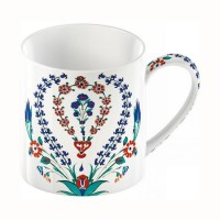 Mug V&A Iznik Hyacinth fine china 260ml