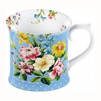 Taza Katie Alice English Garden Blue Tankard 350ml
