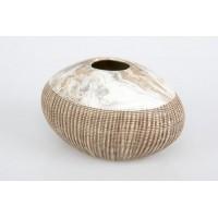 Florero cerámica Tribal 22x15x13 cm