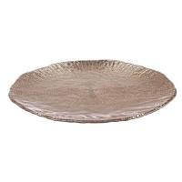Plato centro redondo con relieve dorado oscuro 32cm