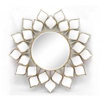 Espejo decorativo redondo marco hojas espejo 93cm