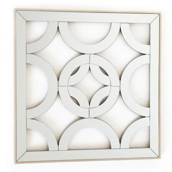 Espejo cuadrado resina champagne calado circulos 40x40 cm - Espejos cuadrados grandes ...