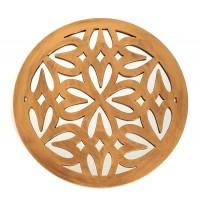 Espejo redondo resina dorado antiguo corazones 39,5cm