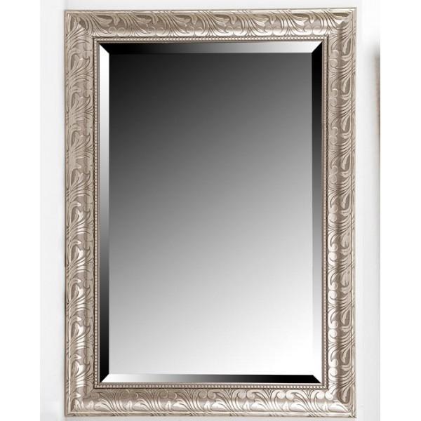 Espejo resina plateado 60x90 cm 110x81 cm decoraci n espejos for Espejo rectangular plateado