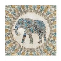 Lienzo cuadro elefante colores 80x80cm 2 modelos