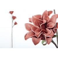 Flor foam 3 flores burdeos 30x81cm