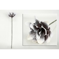 Magnolia foam gris y blanco 25x72cm