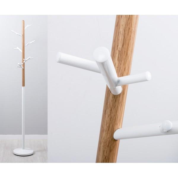 Perchero de pie met lico blanco y madera ramas rbol 180cm - Percheros de pie zara home ...