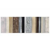 Lienzo cuadro apaisado abstracto rayas tonos tierra 60x150 cm
