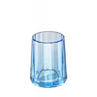 Vaso para cepillos baño acrílico azul Ø8x9,7h cm