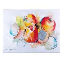 Cuadro lienzo oleo Manzanas y Abstracto Crown 2 modelos 80x60 cm