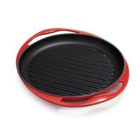 Parrilla grill hierro colado redonda Le Creuset Cereza 26cm