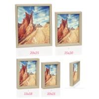 Marco fotos madera natural 13x18cm