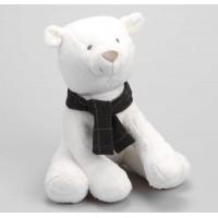 Oso polar blanco peluche Hanz 24x25cm