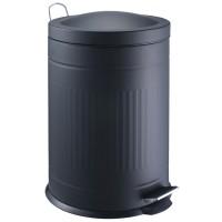 Papelera metal Step negro 20 litros