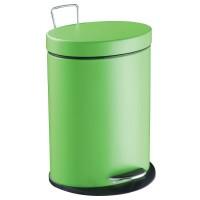 Papelera metal elíptica Step verde 5 litros