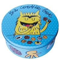 "Caja metálica azul ""the cookie box"" 22xh9cm"