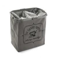 Cesto cubo doble para ropa gris The Laundry Company 50x30xh52cm