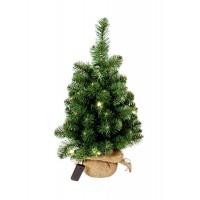 Arbol navidad en maceta de saco 10 luces leds y altura 60cm