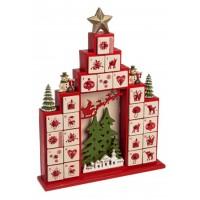 Calendario de adviento torre decoración figuras navideñas 29,5,6,5x37cm