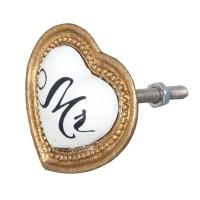 Doorknob 3,5x3,5 cm gold colour