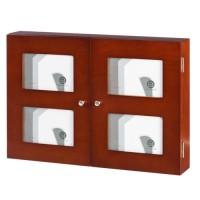 Tapa cubre contadores madera marrón con 4 marcos de fotos 32x8x46cm