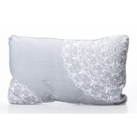 Cojin rectangular con relleno blanco y gris Panama 30x50cm