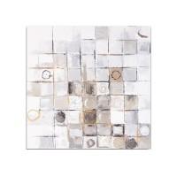 Lienzo cuadro imagen abstracta círculos tonos beige 60x60 cm 2 modelos