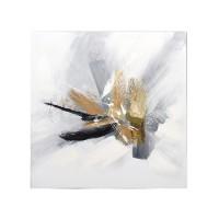 Lienzo cuadro abstracto tonos tierra 80x80cm