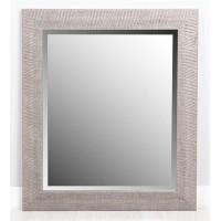 Espejo marco resina plata relieve rayas 50x60 cm