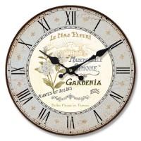 Reloj de pared mdf rosa azul Gardenia 33,8cm
