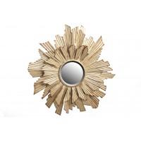 Espejo redondo marco metálico dorado sol 93cm