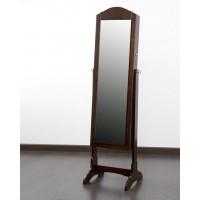 Espejo madera marrón joyero con pie 43x40x160 cm