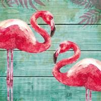 Servilletas cuadradas Summer Flamingos PPD 33x33cm