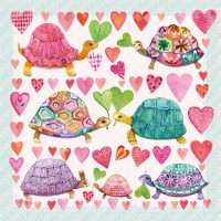 Servilletas cuadradas Turtles in Love PPD 33x33cm