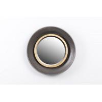 Espejo redondo marco metálico dorado y negro 44x7cm