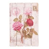 Cuadro placa madera dibujo Rosas 40x60cm