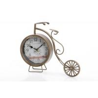 Reloj metálico de sobremesa bicicleta clásica 30x6x23cm