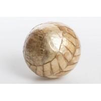 Bola decorativa nacar marrón flecha 12 cm