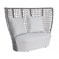 Sofá de exterior 2-3 personas Kravitz con cojines 168x87x121h cm