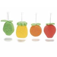 Esponja de baño con formas de frutas 9,9x9x13,5h cm