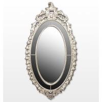 Espejo ovalado marco barroco champagne con adorno superior 200x6,5x106,7cm
